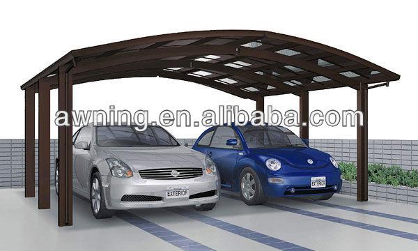 Double aluminium carport garage toit et abris d 39 auto id de produit 69937 - Prix carport aluminium ...