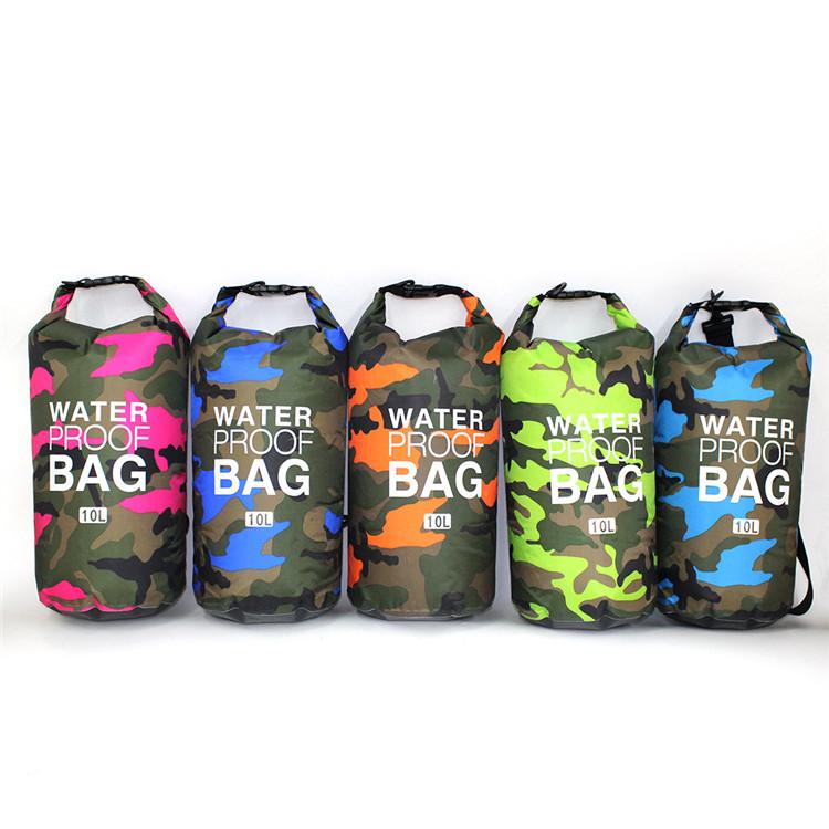 Producto en oferta, bolsa seca resistente, ligera, de gran capacidad, de camuflaje y PVC, resistente al agua con correa ajustable para exteriores
