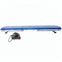 High power full size blue led ambulance strobe warning light bar with siren