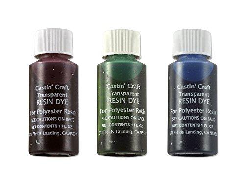 Castin' Craft Transparent Resin Dye Assortment (Red, Green Blue)