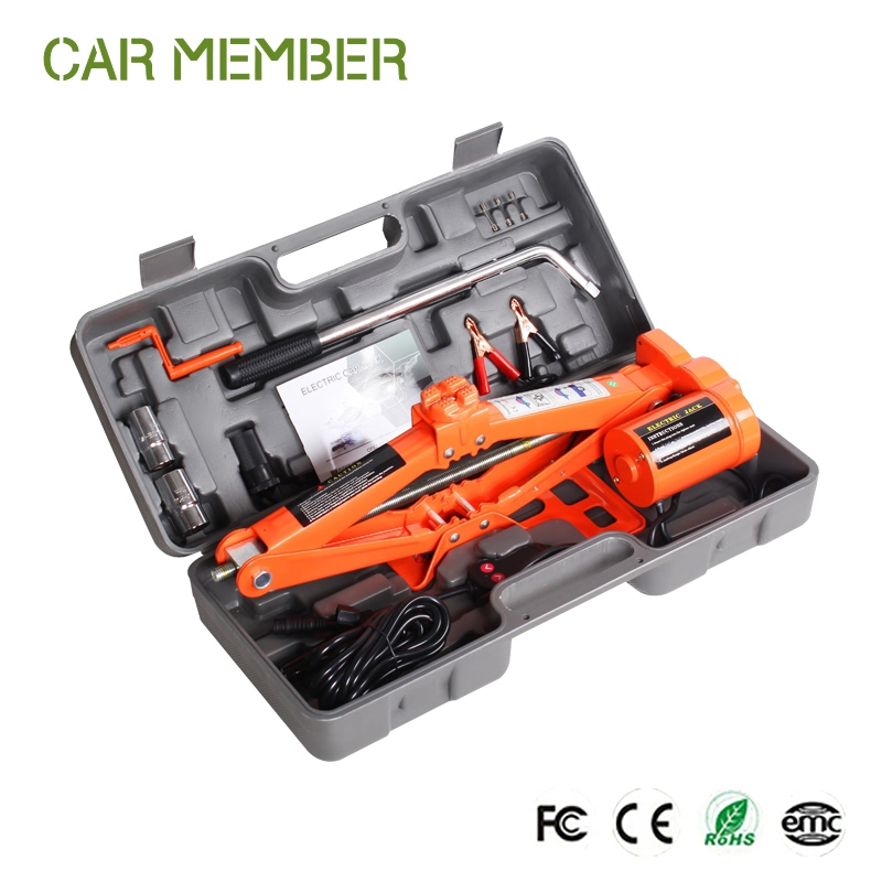 Electric car jack 2ton hydraulic bottle jacks 2 tons car electric jack&wrench supplier