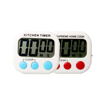 High Quality Big Display Kitchen Cooking Magnetic LED Digital Timer with Memory Function