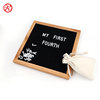 oak Wooden felt notice board felt removable letter board with 10 x 10 inch