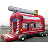REd inflatable fire engine bouncers, Airtight innovative inflatable bounce house designs