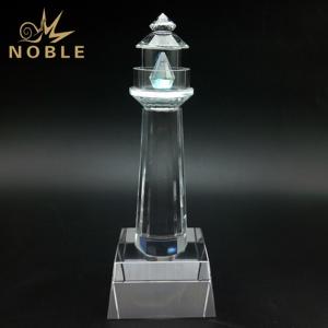 Blank Clear Crystal Lighthouse Trophy As Souvenir
