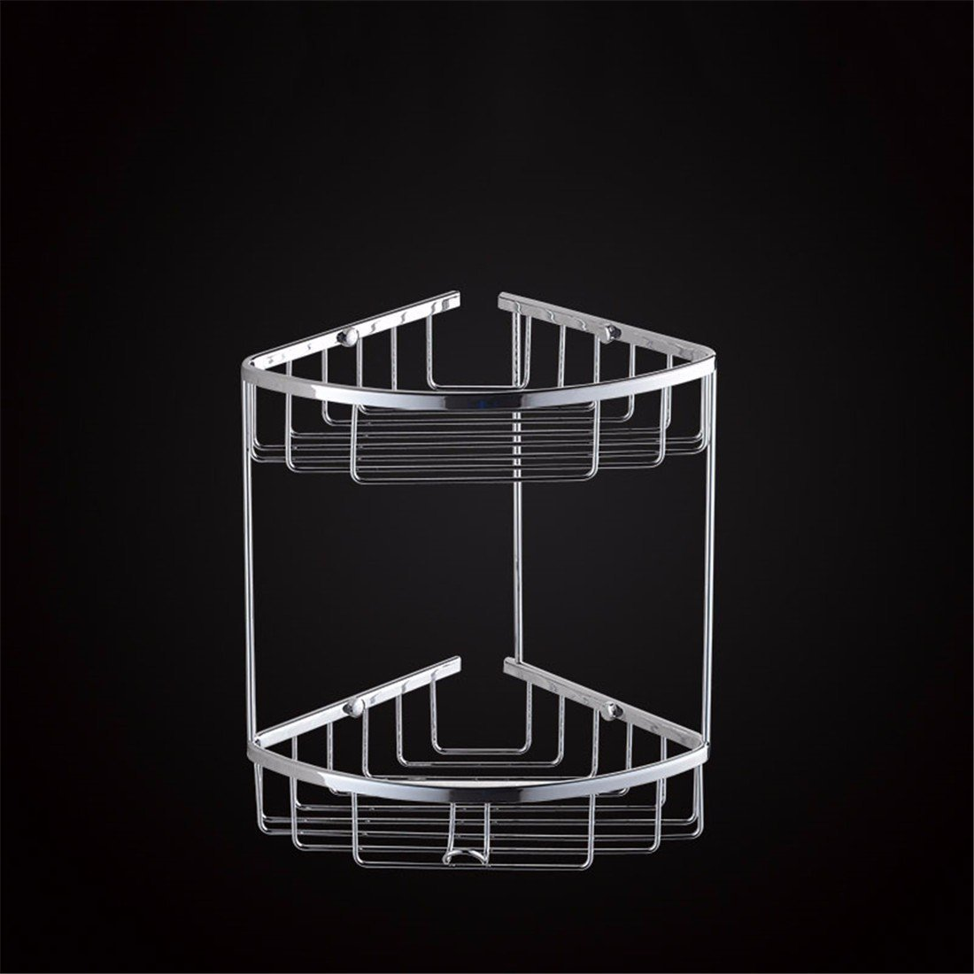 LAONA A contemporary minimalist Brass chrome bathroom accessory kit towel rack racks, built-in basket 2