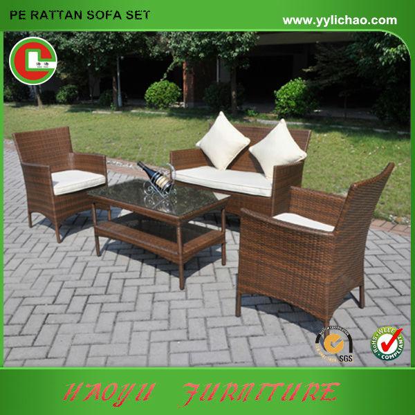 Mueble de Rattan jardín sofá bonita patio rato barato-Conjuntos de ...
