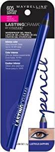 Maybelline Eyestudio Lasting Drama Waterproof Gel Pencil, 605 Lustrous Sapphire (Pack of 2)