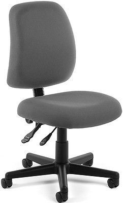 Office Medical Computer Task Chair in Gray Stain Resistant Fabric - Clinic Chair