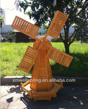 Wooden Garden Windmill
