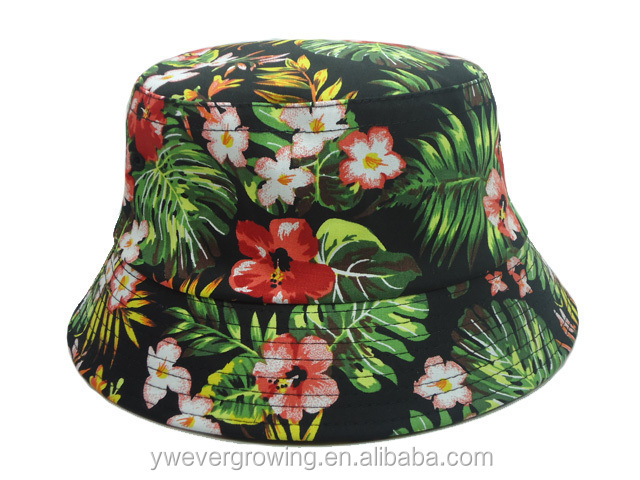 Flower Hunting Fishing Outdoor Cap Unisex 100% Cotton NEW Arrival Cheap wholesale custom bucket hat