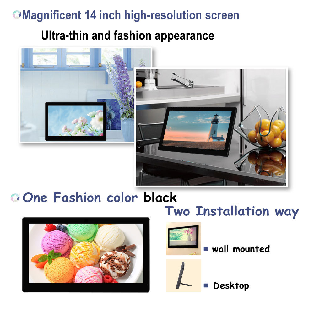 SH1401DPF 14 inch lcd screen digital photo frame/digital picture