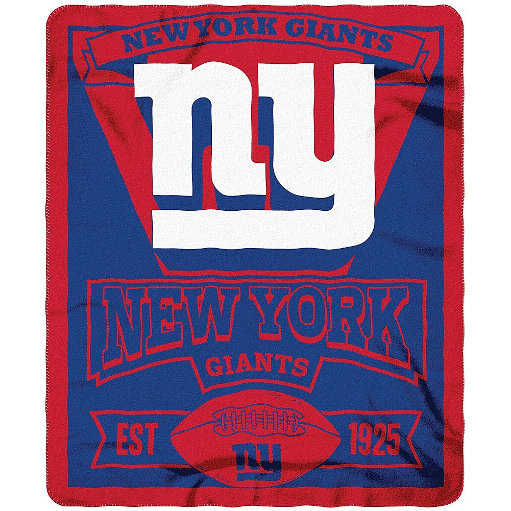 Get Quotations · NFL Officially Licensed 50 X 60 Marque Fleece Throw Blanket  (New York Giants) a7e9cdab2