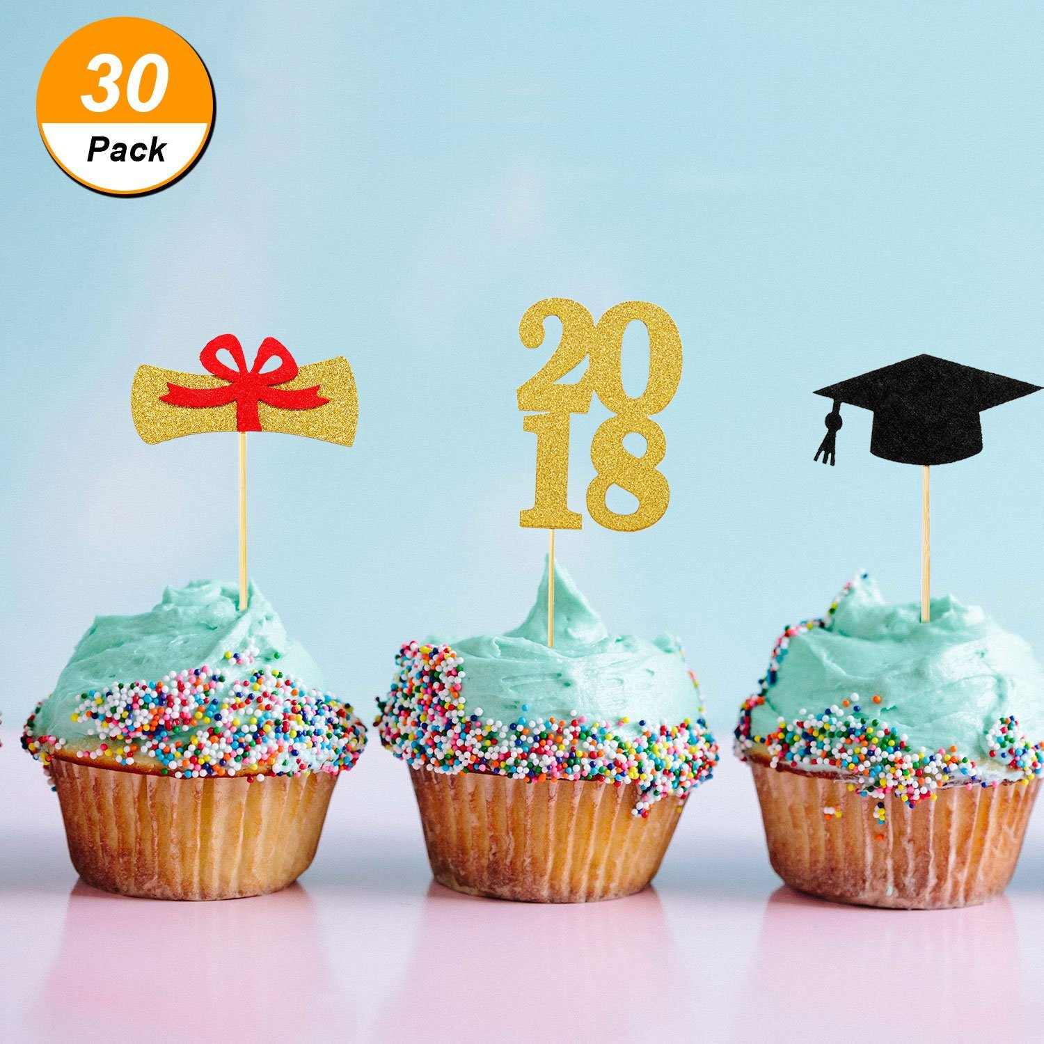 Buy Toodoo 30 Pieces Graduation Cupcake Toppers 2018