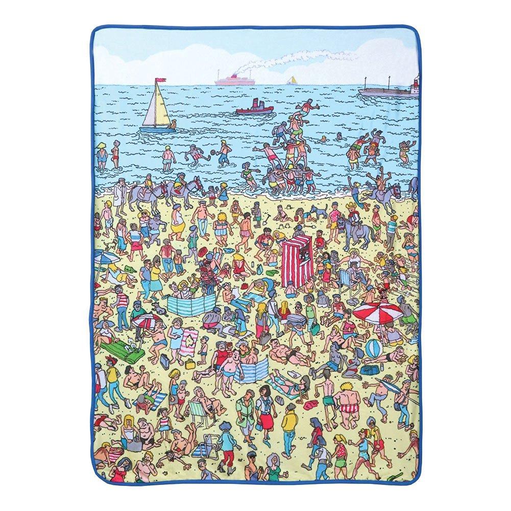 "Where's Waldo Fleece Beach Throw Blanket - 45""X 60"""