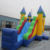 Jumping bounce house with slide inflatable