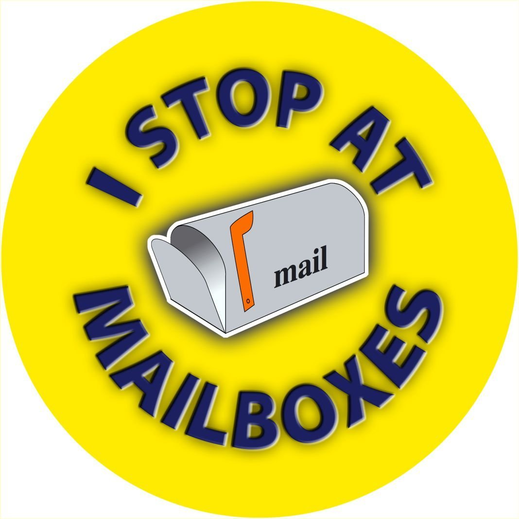 US Mail #2 I Stop at Mailboxes Spare Tire Cover (Select popular sizes in drop down menu or contact us-ALL SIZES AVAILABLE)