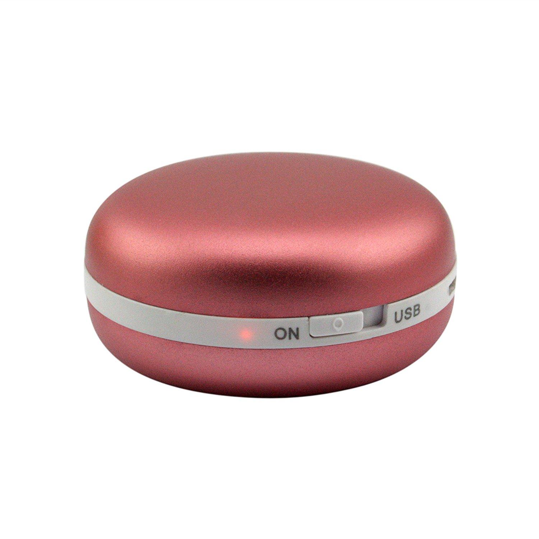 HandFan Ergonomic Metal USB Electric Hand Warmer Pocket Portable Hand Warmer Small Hand Warmers for Women//Men//Kids+5200mAh 2.1A Power Bank+LED Flashligh Rechargeable Hand Warmer