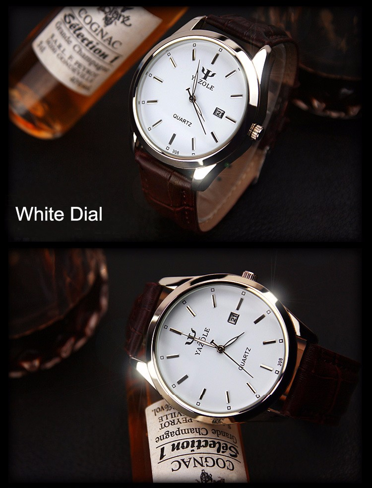 YAZOLE Z 308 Brand your own men watch big dial classic quartz oem watches waterproof calendar fashion wristwatch