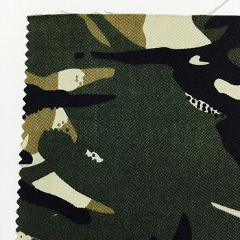 brushed printing camo elastic twill cotton spandex woven fabric