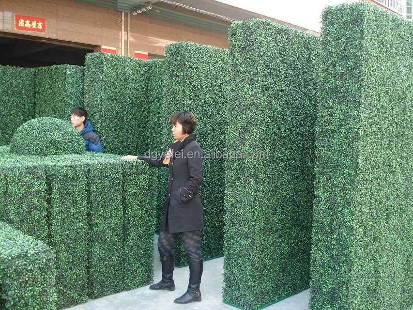 wholesale green artificial boxwood panel fake boxwood topiary