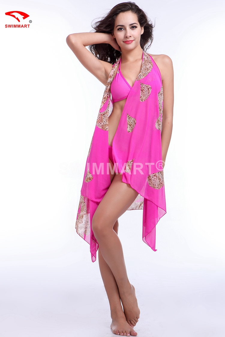 7ef29244d74d Get Quotations · 3 in 1 Bikini Set + Cover ups Packed Swimwear Bathing Suit  Sexy Pareo Beach Dress