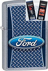 Zippo 29065 Ford Motor Company Lighter Withflint & Wick Gift Set