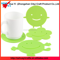 Mats Pads Table Decoration Accessories green color promotional soft pvc coaster