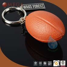 Metal & PU rugby key chain manufacturing