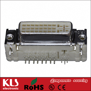 Good quality dvi connector solder 24+5 UL CE ROHS KLS Brand