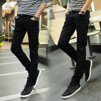 HT-MJ new hot europe jeans manufacture china fashion design men pants korean boys style slim 100% cotton denim jeans boys jeans