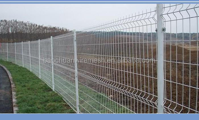 Made in China hot sale Hot dip double wire mesh fence panel / 3d welded wire fence panels / welded double wire mesh fence panel