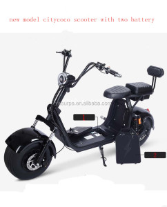 2 60v 12ah removable battery 1500W double suspension citycoco e-scooter/yongkang surpa fat tire electrical scooter