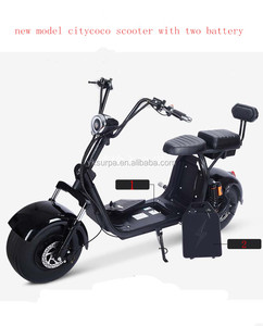 surpa 1000w 1500W double suspension citycoco e-scooter/ fat tire electrical scooter with two 60v 12ah removable battery