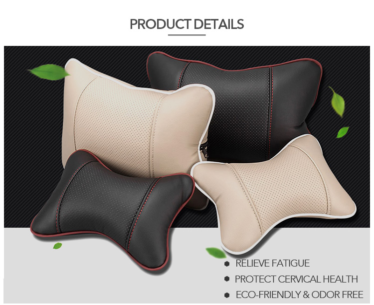 Mcow Soft Lower Back Pain Foam Back Support Adult Leather Car Seat Cushion