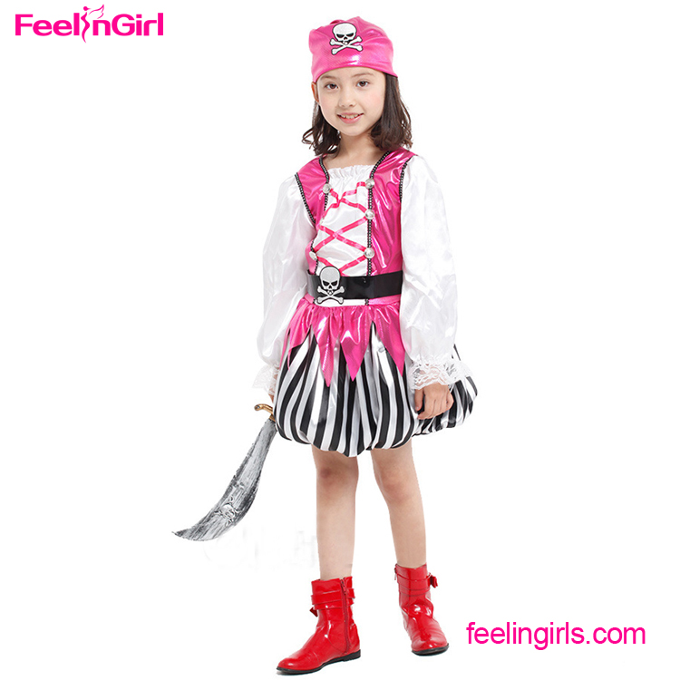 Wholesale Pink Cosplay Set Girl Party Pirate Dance Costumes