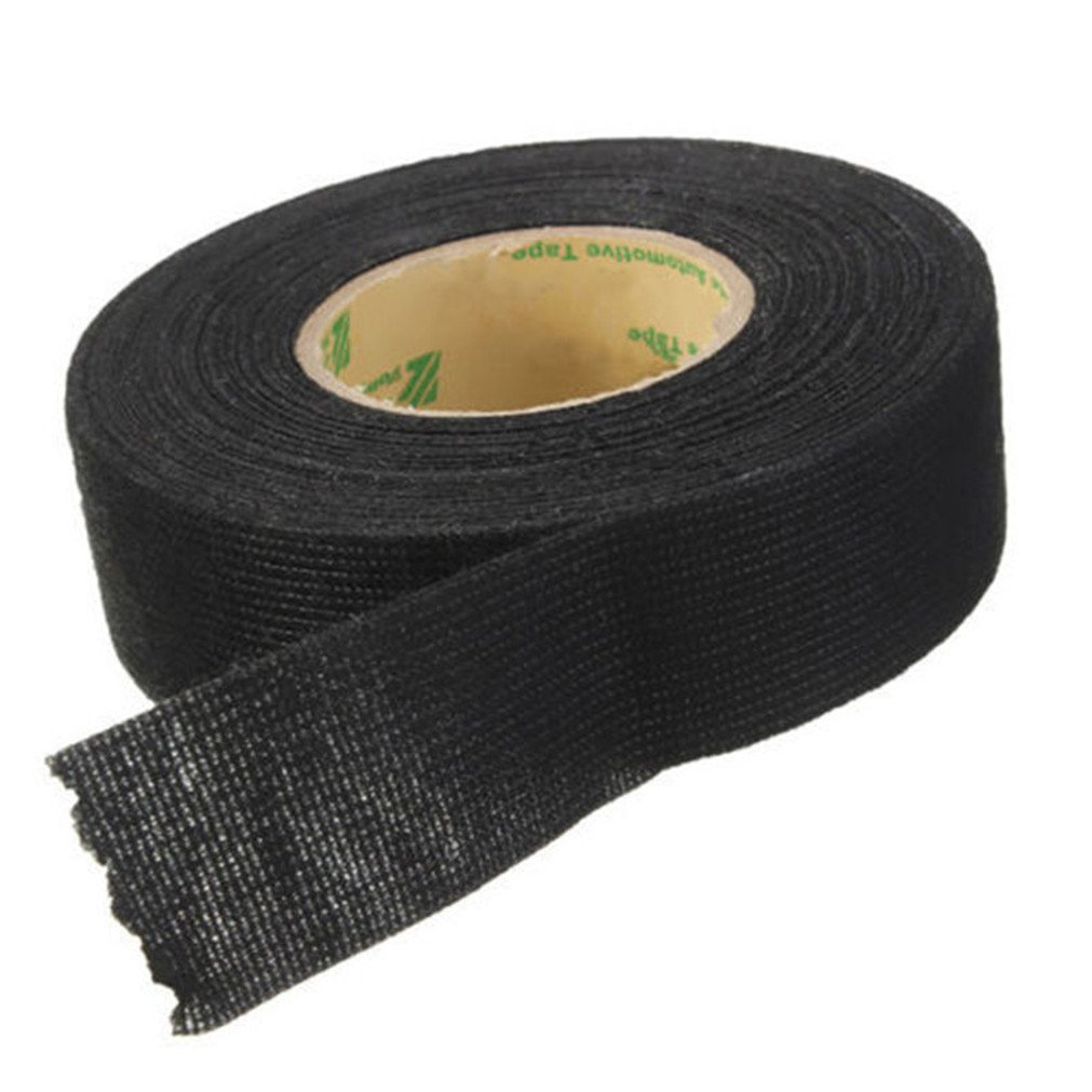 Vipe Black Flannel 15m Car Auto Wiring Harness Anti Rattle Self Adhesive  Felt Tape