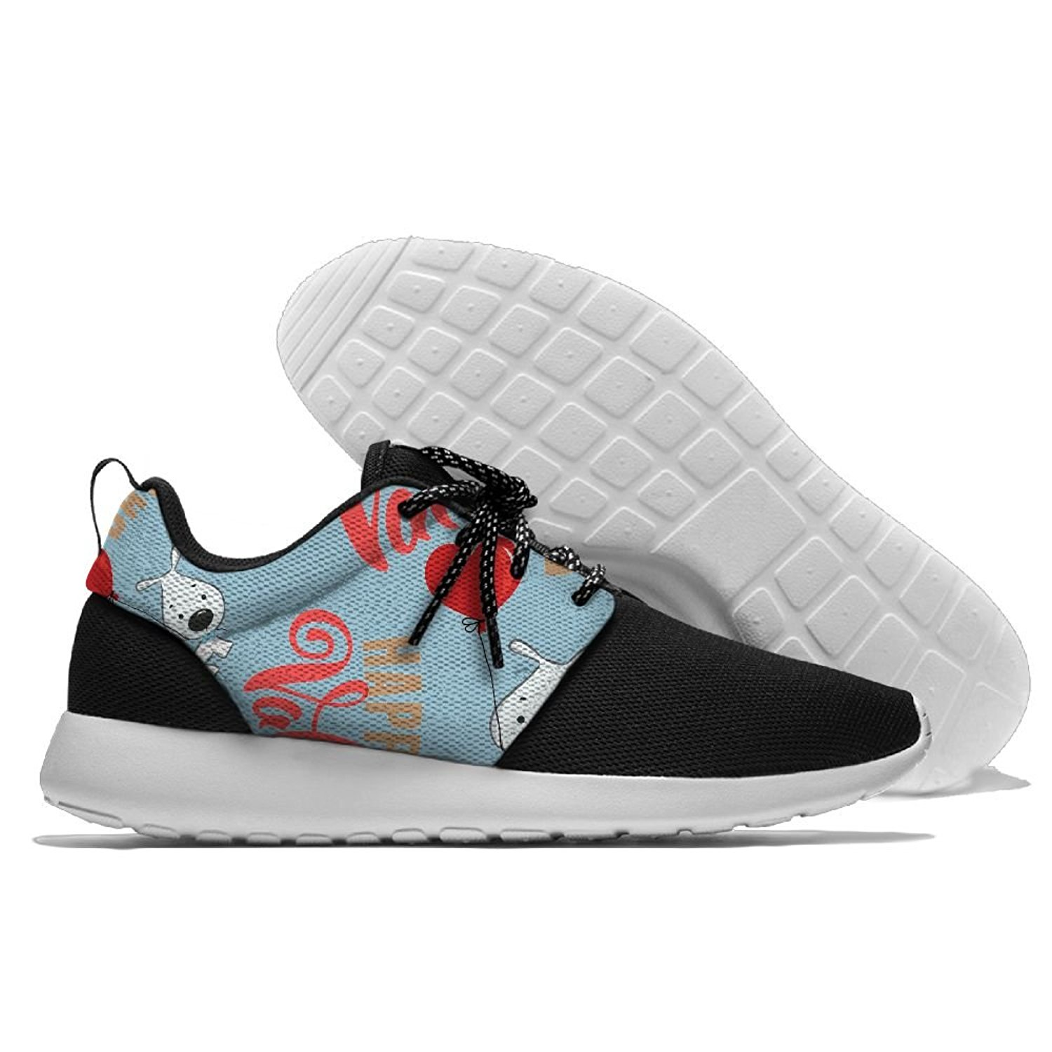 Happy Valentine's Day Cartoon Funny Mens Print Lightweight Sport Shoes Sports Breathable Sneaker Running Shoes