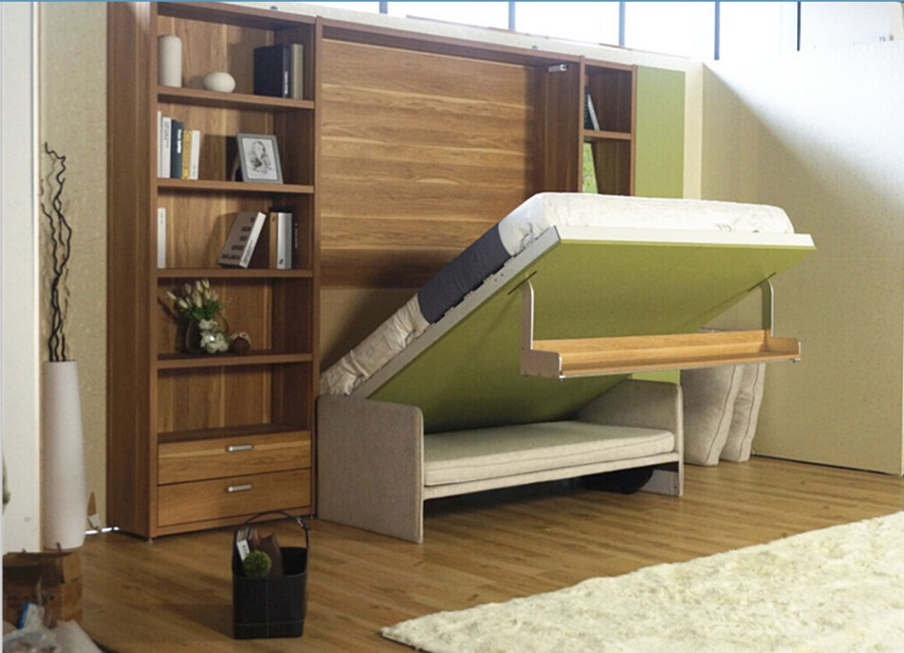 Wall mounted bed folding sofa wall bed wall bed murphy bed - Wall mounted pull down beds ...