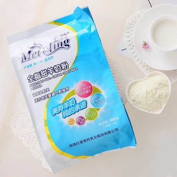 Bag packing Meiling GMP adult Full fat sweetened dry powdered goat milk