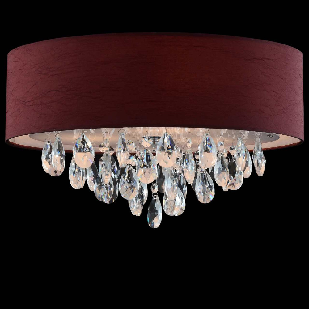 Various colorful chandelier fabric shade ceiling led buried round various colorful chandelier fabric shade ceiling led buried round crystal lights aloadofball Images