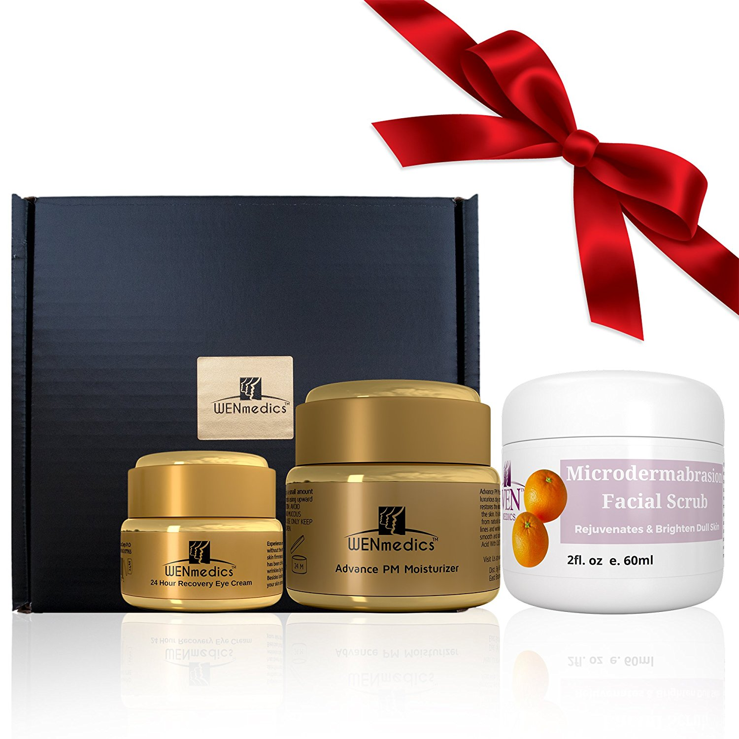New Anti-aging 3 step skincare gift set - facial kit comes with Exfoliating Scrub, Facial Lotion & Under Eye Treatment - enjoy youthful radiant smoother-looking skin today - Dry Skin Face Kit