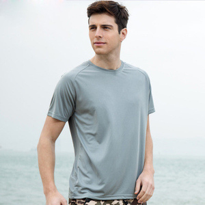 dry fit t shirt sport 100% microfiber polyester scoop neck t shirt for men