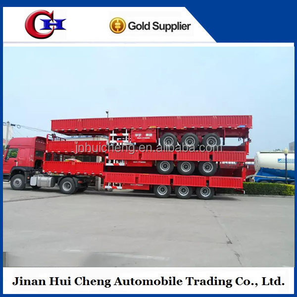 sino truck container flatbed trailer for sale in pakistan , tanzania used flatbed trailer for sale