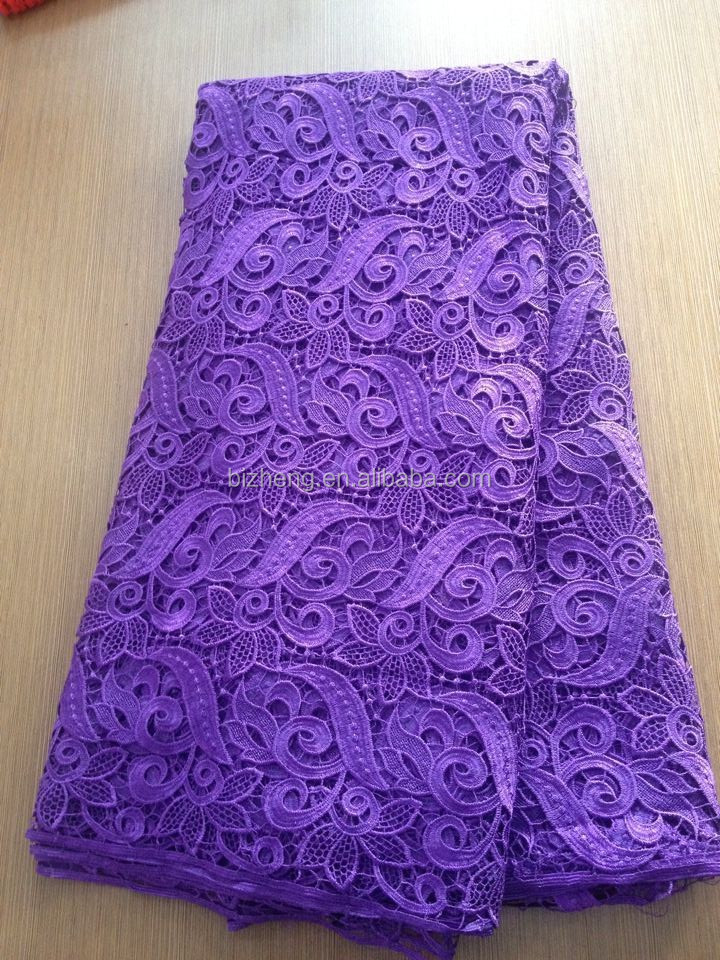 High quality African guipure lace/cord lace fabric/water soluble lace fabric for sewing/wedding
