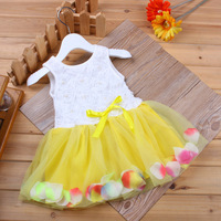 Summer clothes girl baby princess lace yarn sleeveless bow toddler dress bangladesh wholesale clothing sets Bulk Children Cloth
