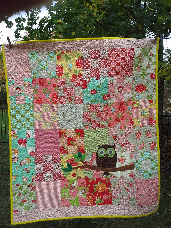Get Quotations Baby Owl Woodlandl Quilt Nursery Bedding