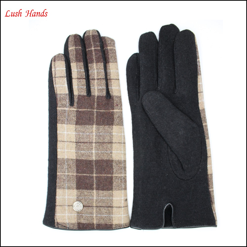 cheap glove Girls and women's beautiful gift fabric gloves lining polyesther