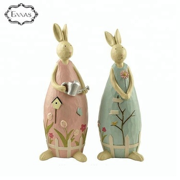 Economic and reliable modern home resin rabbit decoration for wholesale