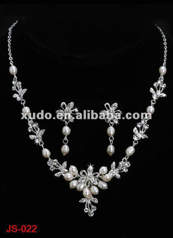 fashion crystal neclace set jewelry for wedding